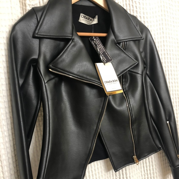 Chiara Boni Jackets & Blazers - Chiara Boni Leather Jacket - BRAND NEW!!!!